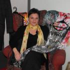 Jil Leydon, of Arrowtown, shows off some of the clothes she may take to the Frocks and Frivolity...