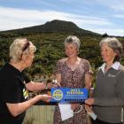 Keep Dunedin Beautiful chairwoman Jan Tucker (left) and awards co-ordinator Darlene Thomson ...