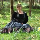 """Kim """"Dusty"""" Murtagh with the first spring daffodils at the former Black Horse Brewery site near..."""
