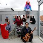 Local recipients of Dunedin Fringe Festival grants (clockwise, from front left) Andrew Scott (...