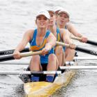 The Wakatipu High School girls under-18 lightweight coxed fours crew of Holly Westenra, Molly...