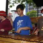 Port Chalmers School pupils (from left) Georgia Guthrie (11) Jacobi Kohu-Morris (11) and Tor...