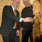 Prof David Baxter (left), dean of the University of Otago School of Physiotherapy, reaches out to...