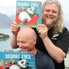 Queenstown musician and author Craig Smith (top) and Arrowtown illustrator Scott Tulloch show off...