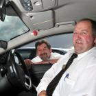 Taxi drivers Ross Smaill (left) and Anthony Ware are confident their cameras help to prevent...