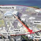 A 500m clean zone applies in the area around Dunedin's new covered stadium. <i>ODT</i> graphic.