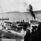 A big day for shipping at Port Chalmers on May 27, 1915. From left, the ships are: Tahiti, in...