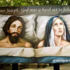 A billboard intended to provoke conversation about spiritual matters at Christmas has been put up...