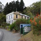A bus shelter at the bottom of Doon St, on Otago Peninsula, is one of 65 in Dunedin decorated...