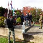 A cameraman films Sergeant Tyrone Rapana, of Waiouru, who is hosting a television series on war...