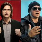 A combination photo shows Sergei Filin, the Bolshoi Ballet's artistic director, at a news...