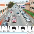 A corrected graphic of a new option, known as Option 1A, for a new separated cycle lane in...