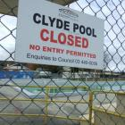 A decision on the fate of the Clyde pool will be made before the 2011 season. It will remain...
