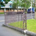 A corner fence is all that is left of the original Knox Church. Photos supplied.