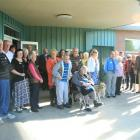A group of 40 people celebrate 125 years of the Blind Foundation in New Zealand at the South...