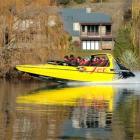 A Kawarau Jet boat passes Kawarau River resident Jo Boyd's property. Ms Boyd says there are...