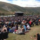 A large, good-natured crowd headed to Gibbston for the summer concert. Photo James Beech