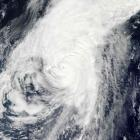A Moderate Resolution Imaging Spectroradiometer image from NASA's Aqua satellite shows typhoon...