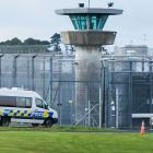 A police van takes Phillip Smith to Auckland Prison this morning. Photo: NZ Herald