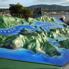 A restored historic topographical map of Otago Peninsula  was unveiled by Dunedin Mayor Dave Cull...