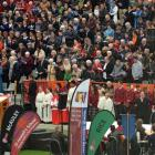 A section of  the crowd at a Mass at Forsyth Barr Stadium yesterday, marking Kavanagh College's...