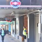 A security guard stands outside the Metro Bar, the bar run by former bankrupt Ben Hanssen. Photo...