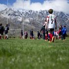 A snapshot below the Remarkables of last year's junior rugby tournament in Queenstown. Photo by...