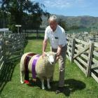 Wyndham farmer Malcolm McKelvie (70), with his family's supreme wool sheep at the 100th West...