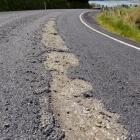 A stretch of Highcliff Rd the Dunedin City Council says was damaged  during the Targa Rally....
