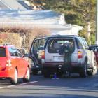 A vehicle parks on the carriageway of Tyne St near Columba College yesterday afternoon. Photo by...