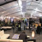 A view inside the temporary hall beside the Queenstown Events Centre that is housing more than...