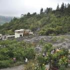 A view of the disaster zone after a landslide in the village of El Manantial, Santa Cruz Barillas...