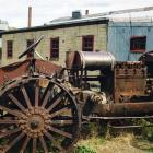 A vintage McCormick Deering tractor outside Hayes Engineering Works at Oturehua, where several...