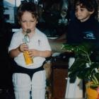 A young Brendon McCullum (left) and brother Nathan were cricket-mad ''right from little wee...