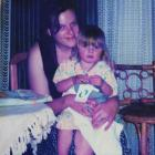 A young Kelle Cadwallader with her daughter, Malorie. Photo supplied.