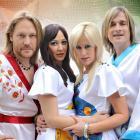 Abba parody group characters (from left) Benny Anderwear, Frida Longstokin, Agnetha Falstart and...