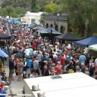 The crowd at the 12th annual Clyde Wine and Food Harvest Festival yesterday. Photo by Sarah Marquet.