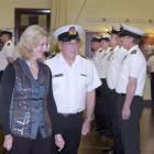Act New Zealand deputy leader and Associate Minister of Defence Heather Roy inspects members of...