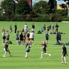 Action from the secondary schools touch competition at the Oval in Dunedin last week.