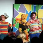 Actors Kylie Milne and Daryl Wrightson perform The Loose Dick Kiddies Show. Photo supplied.