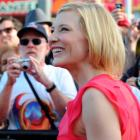 Actress Cate Blanchett walks the red carpet during yesterday's premier of The Hobbit: An...
