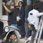 Actress Rachel Weisz, at Port Chalmers, filming The Light Between Oceans earlier this year. Photo...