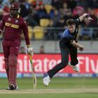 Adam Milne in action for New Zealand against West Indies in Wellington. REUTERS/Anthony Phelps