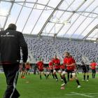 Adam Thomson and the All Blacks train at Forsyth Barr Stadium last month. Photo by Craig Baxter.