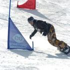 Adaptive snowboarder Carl Murphy in action. Photo by Snow Sports NZ.