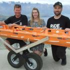 Admiring the Queenstown Mountain Bike Club's new specialist stretcher for steep terrain rescues...