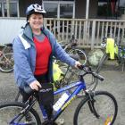 Adraian Stott with the bike she won on the Catlins Great Escape bike ride at the weekend. Photo...