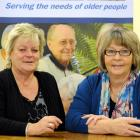 Age Concern Otago  social worker Marie Bennett and executive officer Susan Davidson. Photo by...