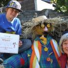 Aiden Gordon and his nana Sue Parker pose beside Aiden's winning scarecrow. Photo by Christina...