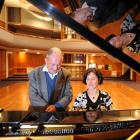 Ailsa Howard gives her father, Les McGilvary, a holiday treat, playing the Dunedin Centre...